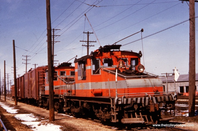 CA&E electric locos 2001 and 2002 and train.