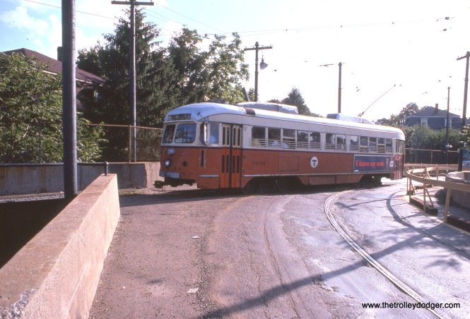 3330 at Ashmont in August 1968.