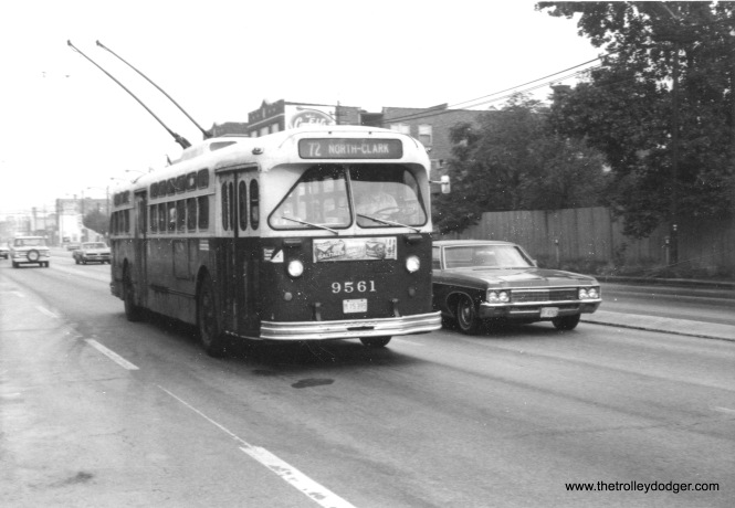 CTA Marmon trolley bus on North Avenue.