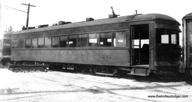 "Chicago and Joliet Electric car 242, known as the ""Ottawa,"" after the 1934 abandonment."