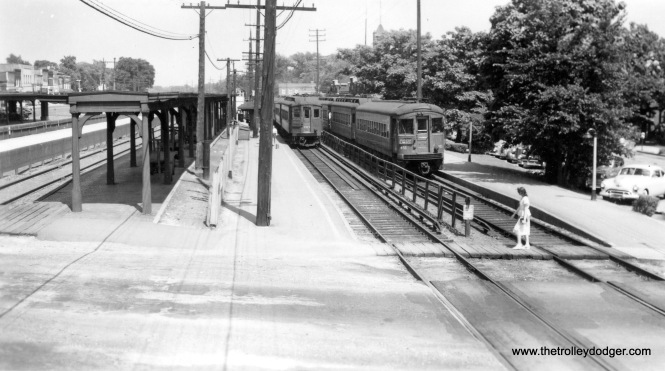 The CA&E Wheaton station in the early 1950s.