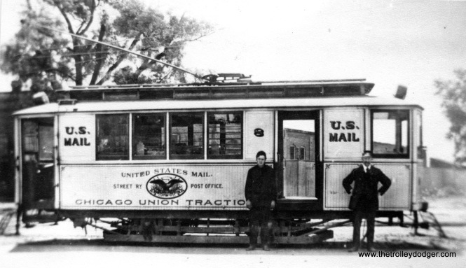 "Don's Rail Photos: ""H7, mail car, was built by American Car Co in 1891, as a C&PS (Cicero & Proviso Street Ry) passenger car. It was rebuilt as CUT 8 in 1900 as a mail car and as CRys 8 in 1903. It was renumbered H7 in 1913 and became CSL H7 in 1914. It was retired on May 16, 1949."""