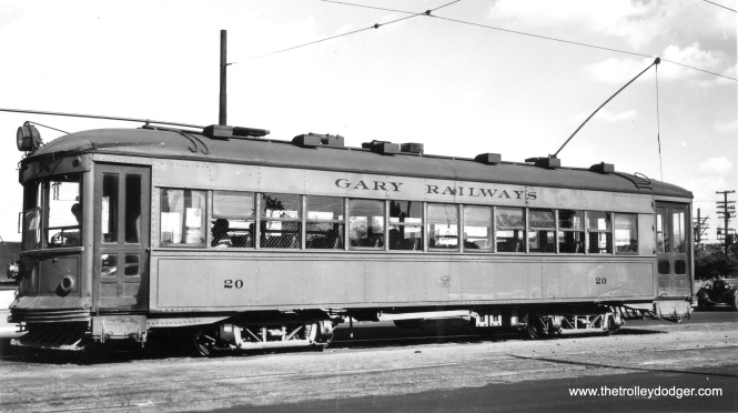 Gary Railways 20 on July 21, 1946.