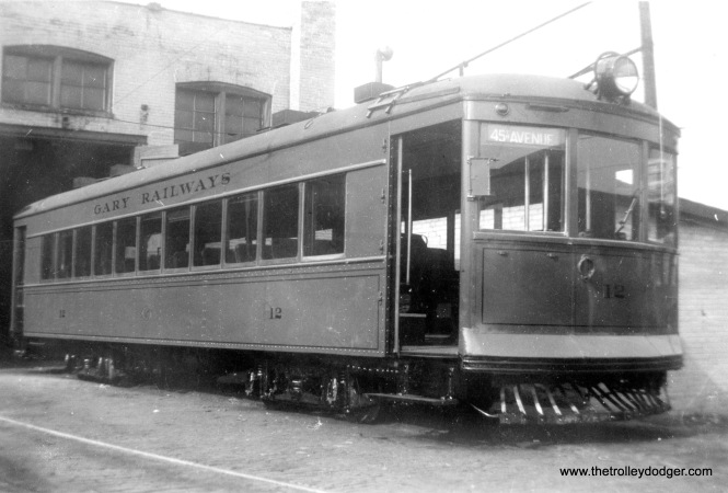 "Gary Railways 12. Don's Rail Photos: ""12 was built by Cummings Car Co in 1926. It was scrapped in 1946."" (Jack Beers Photo)"