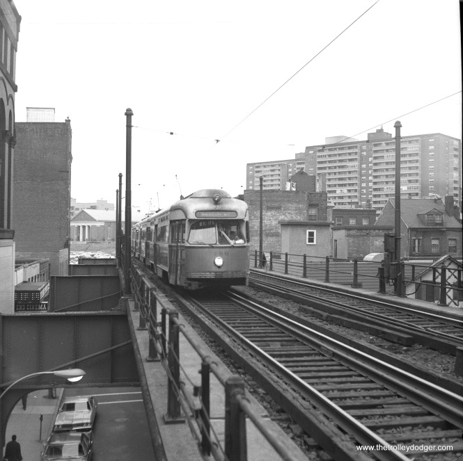 MBTA 3296, operated in multiple units, at the old North Station on September 28, 1970.
