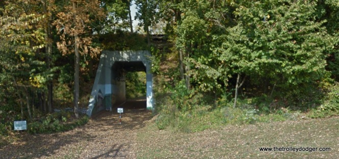 The former LVT underpass in Perkasie today.