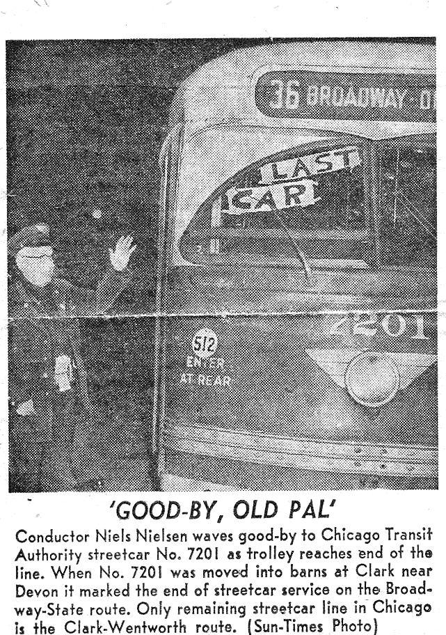 The last #36 streetcar, February 16, 1957.