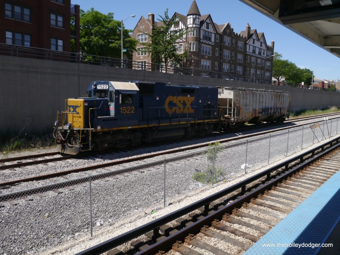 A rare freight on the B&OCT in Oak Park.