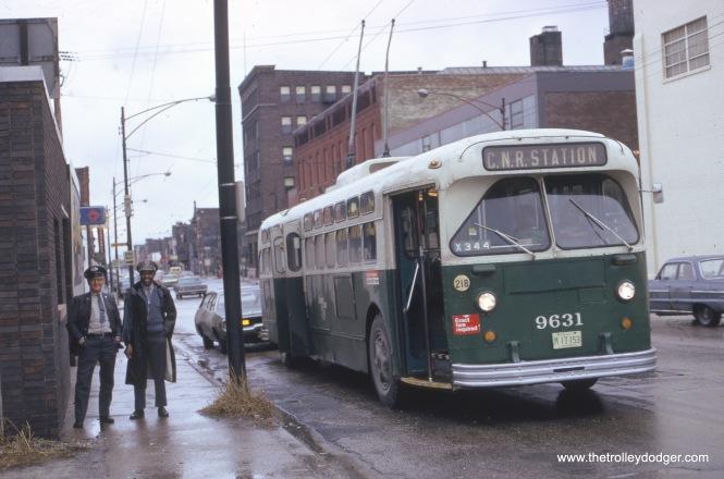 Fullerton Avenue eastbound, April 1, 1973.