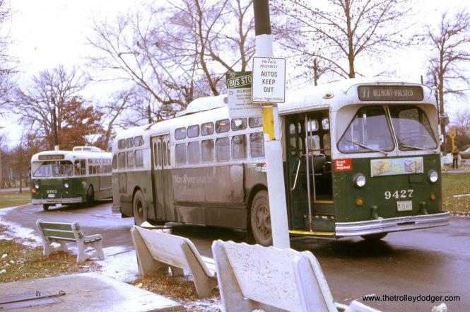Belmont at Cumberland, eastbound, December 3, 1972.