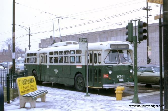 Pulaski at Diversey southbound, December 3, 1972.