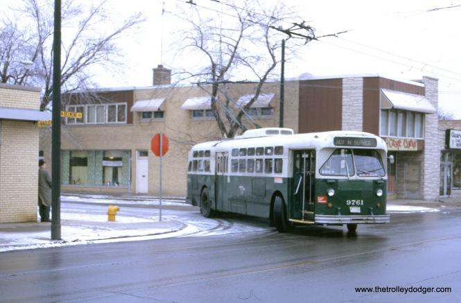 Belmont at Nagle westbound, December 3, 1972.