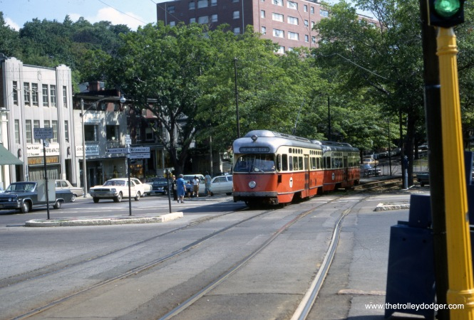 This August marks 50 years since my first trip to Boston. This picture of MBTA 3295 was taken on Beacon Street on August 31, 1967, and shows the PCCs just as I remember them from that time. (Frederick F. Marder Photo)