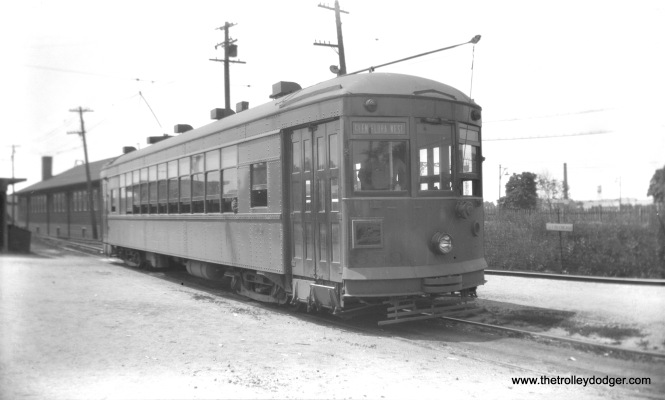 "North Shore Line city streetcar 359 at Great Lakes. Don's Rail Photos: ""359 was built by St Louis Car Co in January 1928, #1453. It was retired in 1949 and scrapped in 1950."""