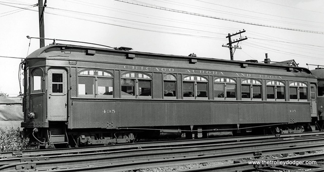 Car 435 at Wheaton Shops (ex-parlor car 601).