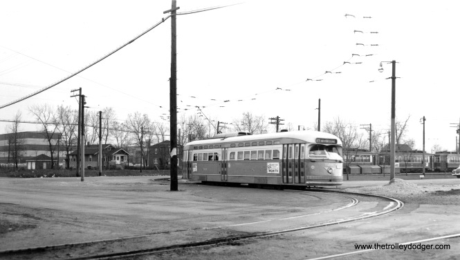 CTA postwar PCC 7261 at the west end of the 63rd Street line (63rd Place and Narragansett).