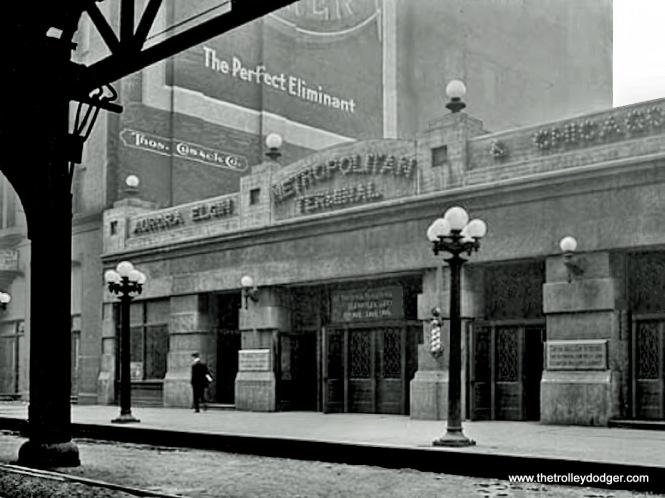 The original Wells Street Terminal facade.