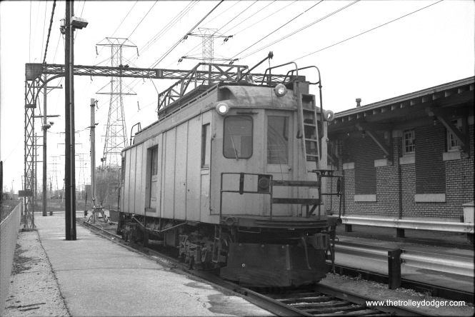 "CTA's line car S-606 at the Dempster terminal of the Skokie Swift (today's Yellow Line). According to Don's Rail Photos, ""S-606 was built by Cincinnati in January 1923, #2620, as Chicago North Shore & Milwaukee 606. In 1963 it became CTA S-606 and burned in 1978. The remains were sold to the Indiana Transportation Museum."" (Photo by Bob Harris) Bob Harris adds, ""By the way, the body of 606 is back in Illinois. When CLS&SB #73 comes out of the restoration shop, 606 goes in. We have the Cincinnati Car Company drawings. But since 606 was virtually destroyed in the November 26, 1977 fire, this will be more of a re-creation rather than a restoration."""
