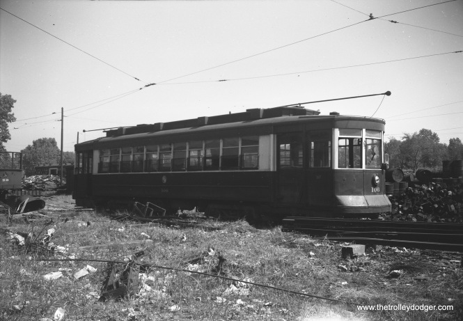 CTA Pullman 106 at South Shops on September 10, 1952.