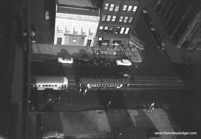 A view from the 15th floor of the YMCA Hotel on Wabash Avenue on September 9, 1952.
