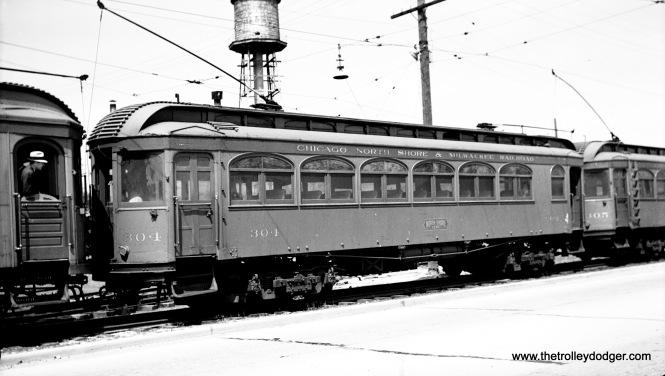 North Shore Line wood car 304, built b