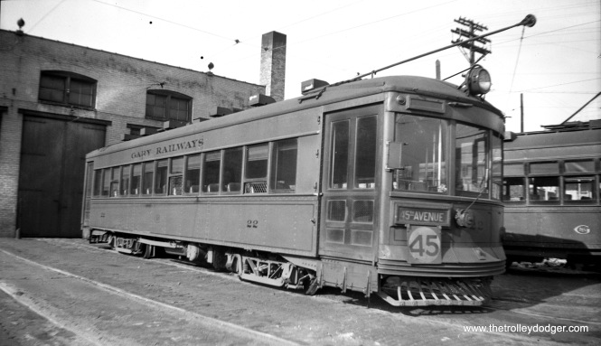 Gary Railways 22 on May 10, 1940.