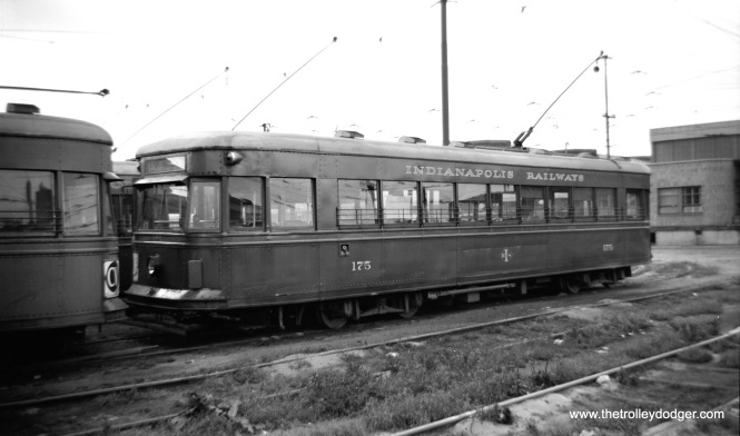 "Indianapolis Railways 175 was a Brill ""Master Unit"" built in 1934. These were among the last cars built by Brill prior to the pre-PCCs. Brill's idea behind the ""Master Unit"" was to create a standardized car, but as it turned out, no two orders placed were exactly alike."