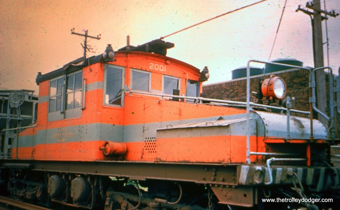 CA&E loco 2001 in Maywood. (Stephen P. Hyett Photo)