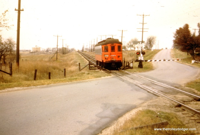 "CA&E 421. Bill Shapotkin says this is ""Dunham Rd on the Elgin Branch. The car is E/B."""
