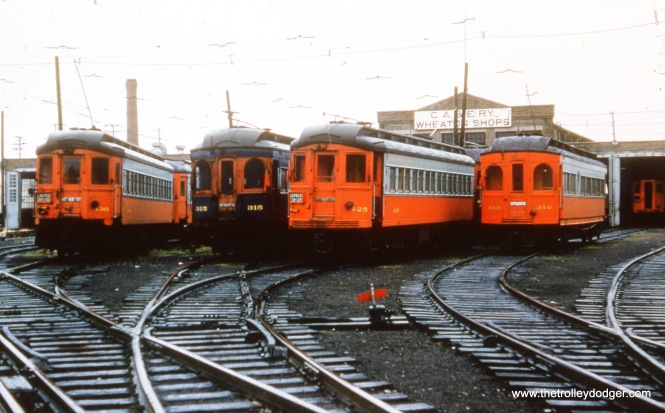 From left to right: 430, 315, 425, and 310 at Wheaton Yard.