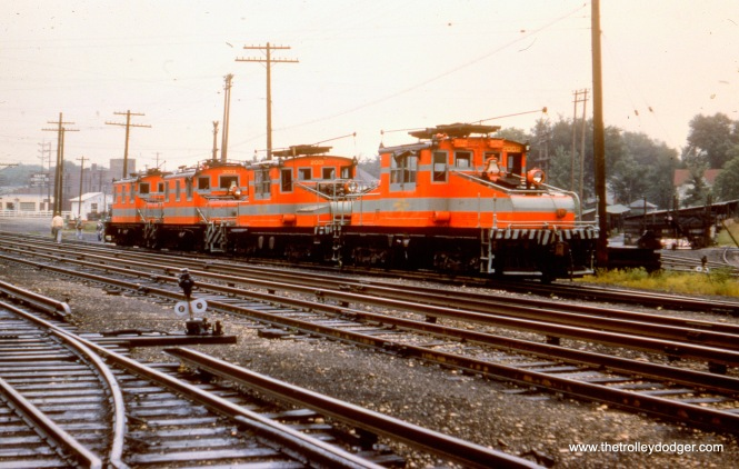 CA&E electric locos 2002, 2001, 3003 and 3004 in Wheaton.