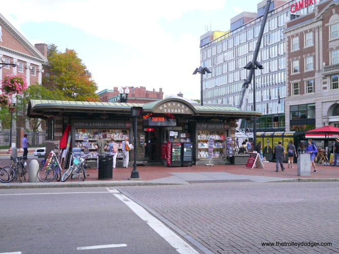 Out of Town News, which occupies the famed former Harvard Square subway kiosk built in 1928, may eventually be forced out as part of a redevelopment scheme.