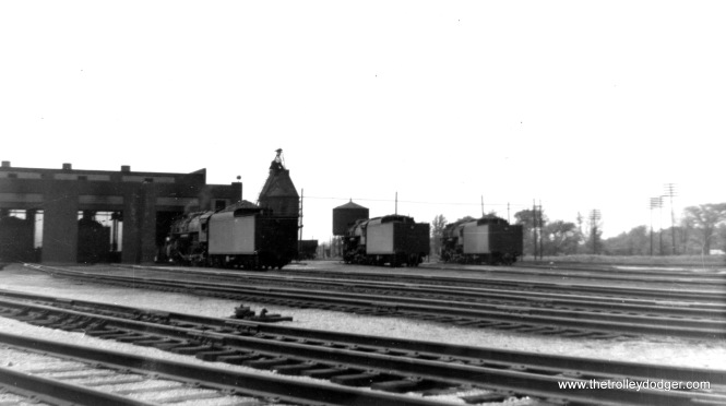 Several steam locos are on this property in June 1958, wherever it was.