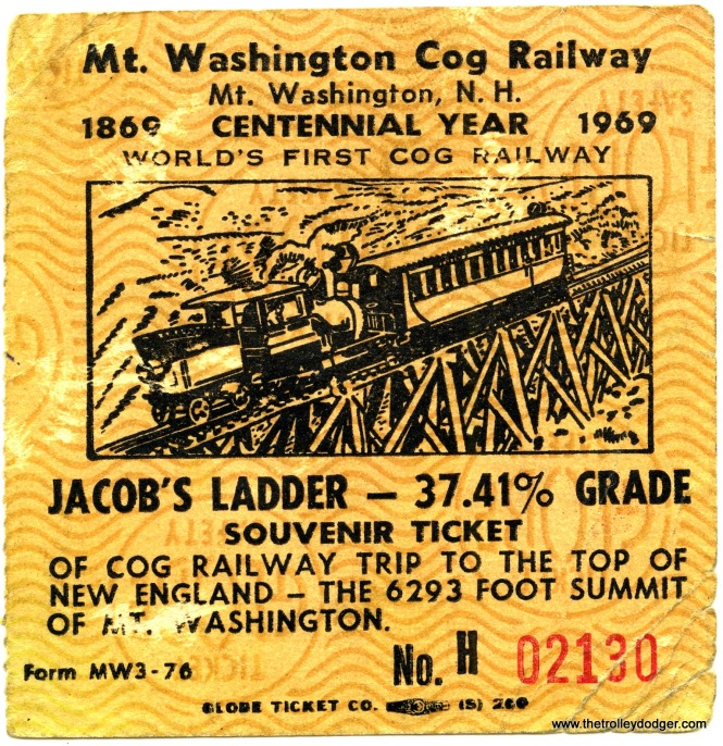 The Mt. Washington Cog Railway still operates.