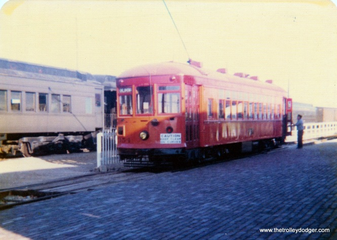 North Shore Line city streetcar 354 at IRM in September 1975.