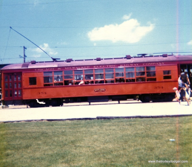 North Shore Line city streetcar 354 at IRM on August 8, 1976.