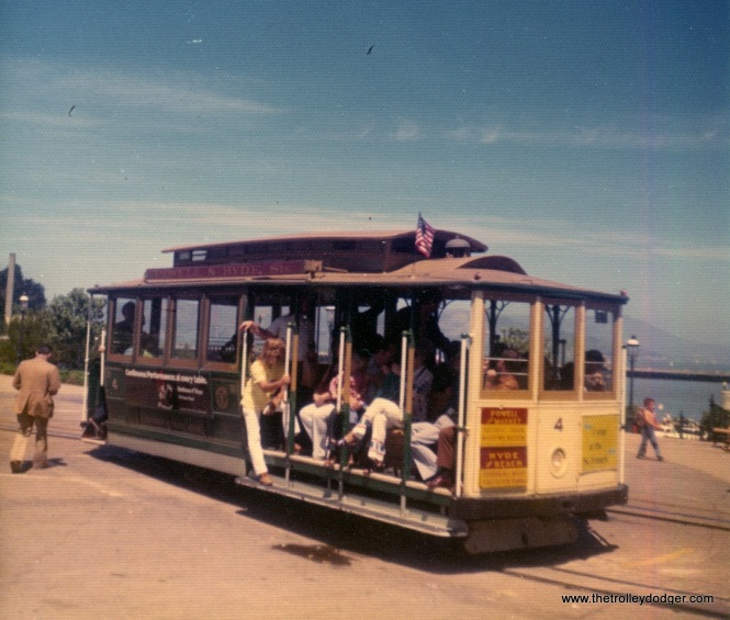 SF cable car 4 on May 27, 1974.