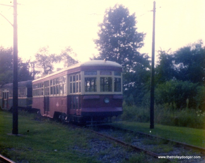 A Toronto Peter Witt at Trolleyville USA, Olmstead Falls, Ohio, on August 23, 1975.