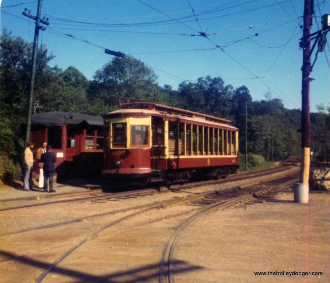 Here, we see Brooklyn car 4573 at the Branford Trolley Museum. It was built by the Laconia Car Company in 1906 and was acquired by the museum on 1947. Here is how it looked on August 31, 1976.