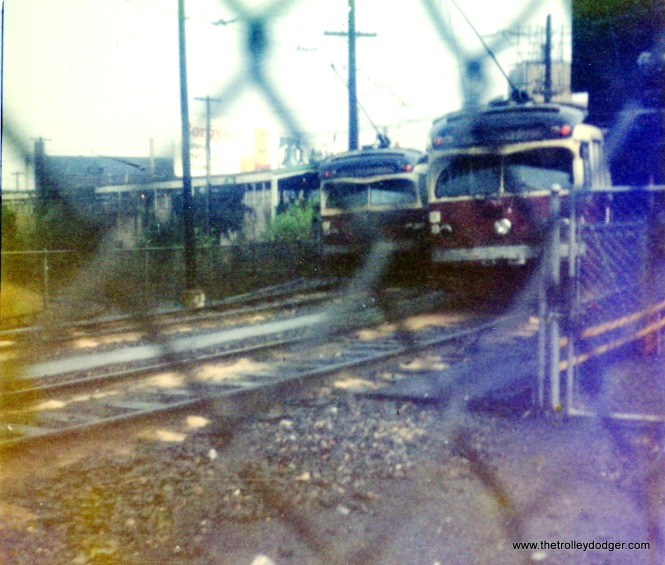 SEPTA Red Arrow cars at 69th Street Terminal on September 2, 1976.