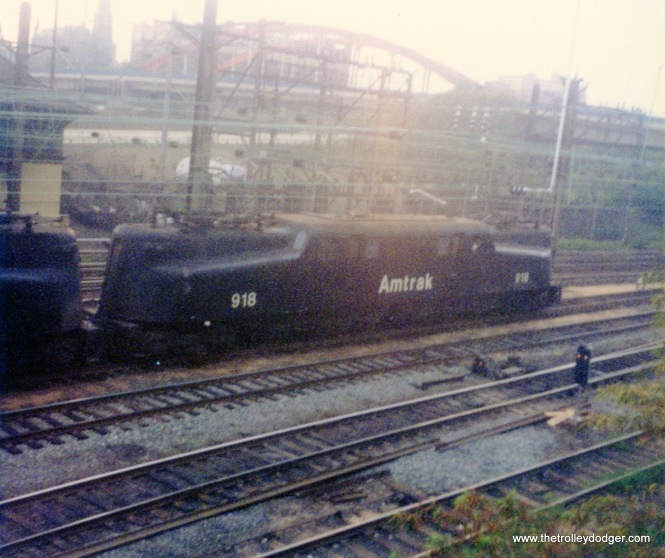 An Amtrak GG-1 in Baltimore on August 31, 1977.