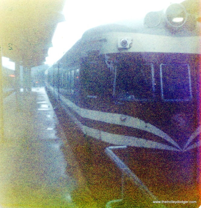 This is not a very good picture, but it does show a Liberty Liner (ex-North Shore Line Electroliner) on September 2, 1976.