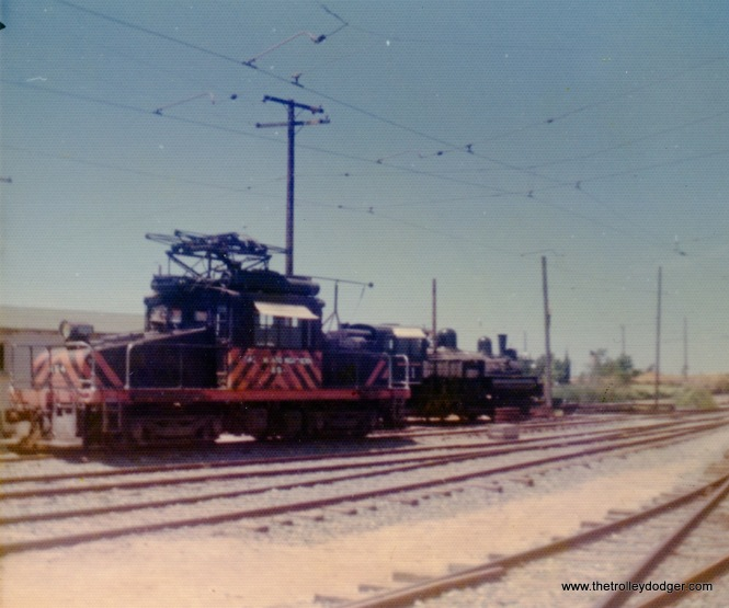 This looks like a Sacramento Northern electric freight loco (Western Railway Museum, May 26, 1974).