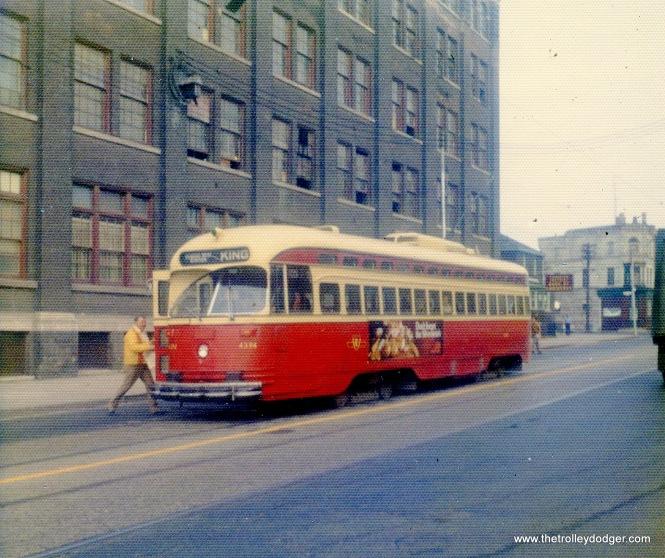 Toronto PCC 4394 on October 25, 1973.