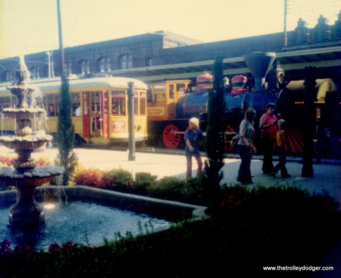 A New Orleans streetcar at Union Station in Chattanooga, June 2, 1974.
