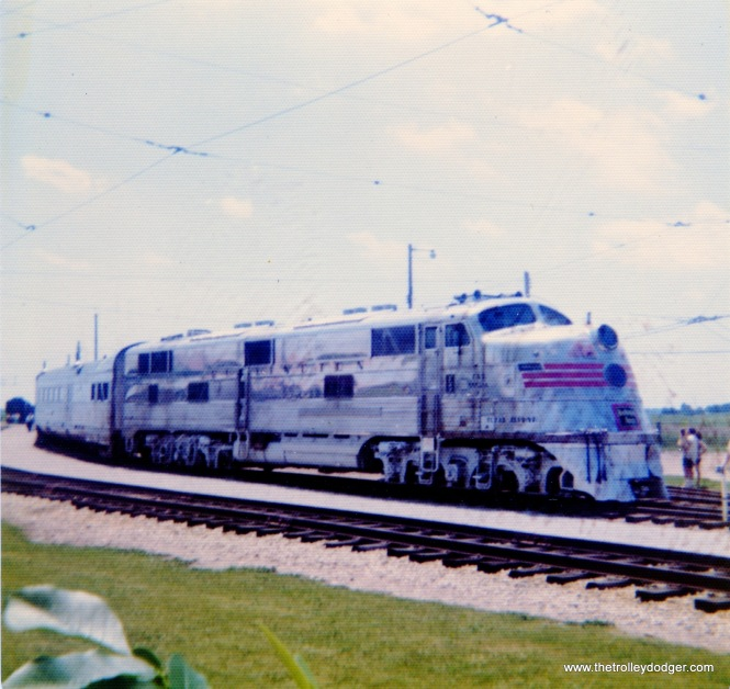 The Burlington Zephyr at IRM, 1976.