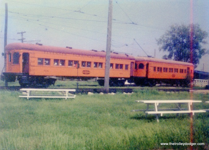 Illinois Terminal cars at IRM, July 1977.