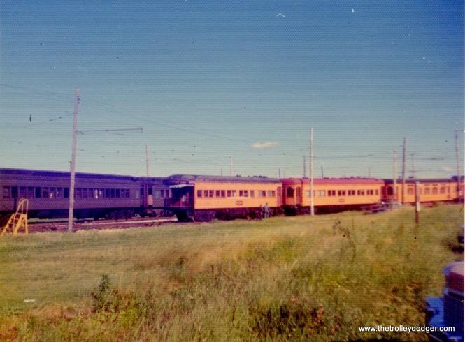 Illinois Terminal cars at IRM, June 23, 1974.