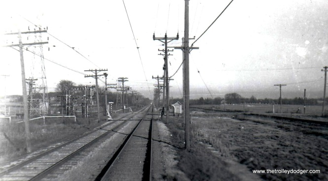 Springdale Road. on Waukesha Line looking east in TM days Ed Wilson