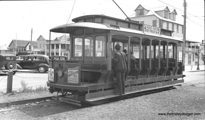 Car 30 at Anglesea in July 1935.